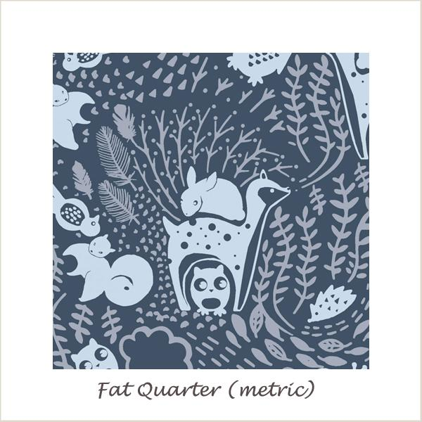 The Big Chill Navy Forest Animals Fat Quarter