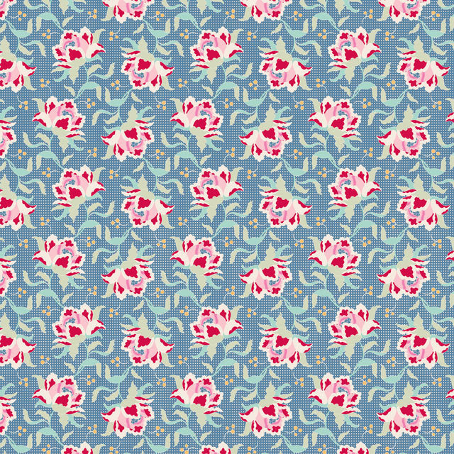 Tilda Circus Clown Flower Blue