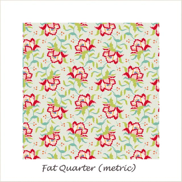Tilda Circus Clown Flower Linen Fat Quarter