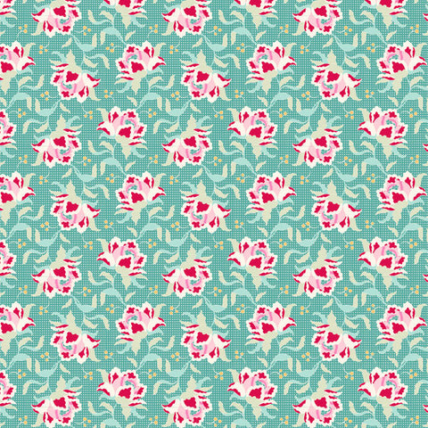 Tilda Circus Clown Flower Teal