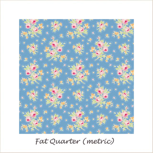 Tilda Circus First Kiss Blue Fat Quarter