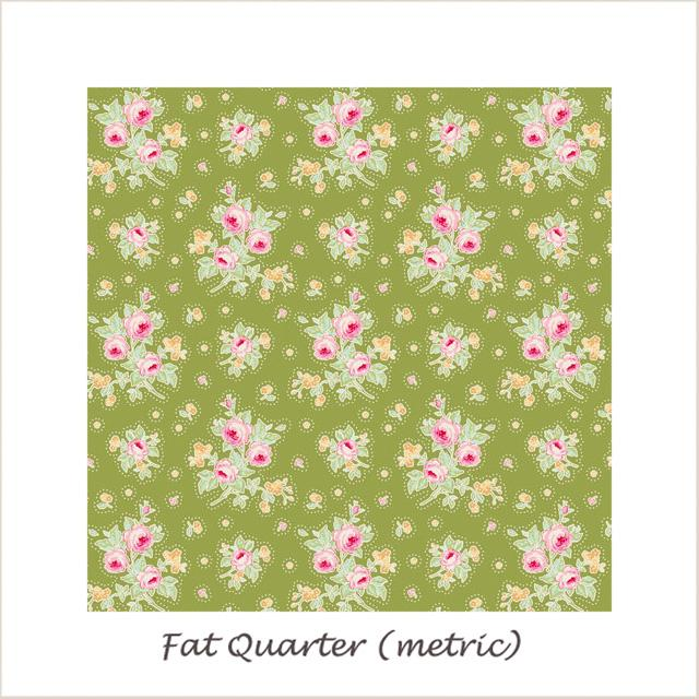 Tilda Circus First Kiss Green Fat Quarter