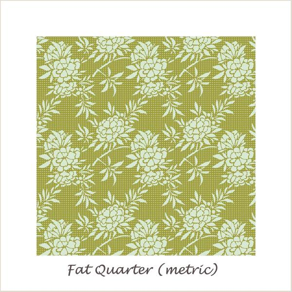 Tilda Harvest Flower Bush Green Fat Quarter