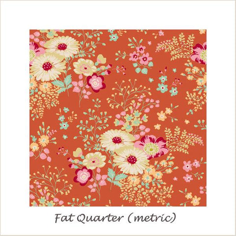 Tilda Cabbage Rose Lucille Ginger Fat Quarter