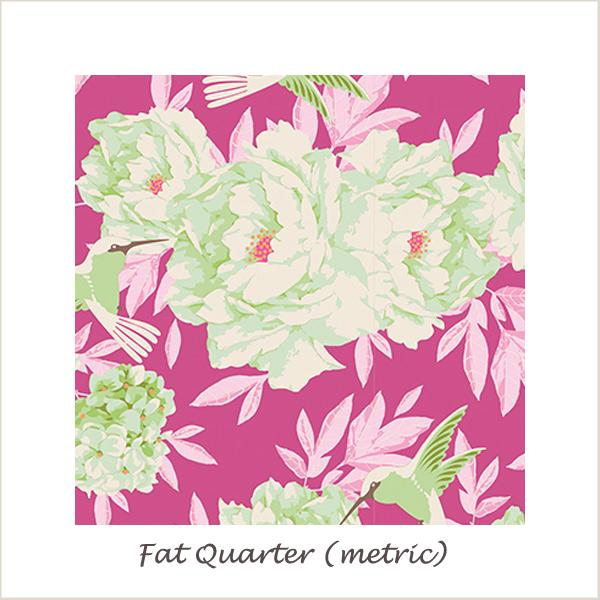Tilda Lemon Tree Humming Bird Plum Fat Quarter