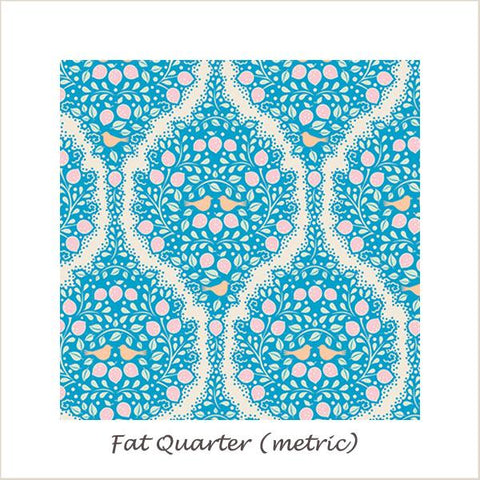 Tilda Lemon Tree Lemonade Blue Fat Quarter
