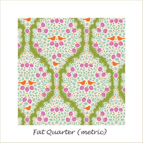 Tilda Lemon Tree Lemonade Green Fat Quarter