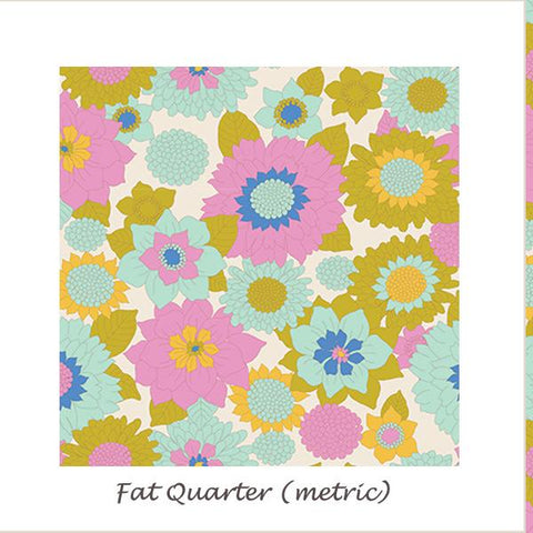 Tilda Lemon Tree Boogie Flower Dove White Fat Quarter