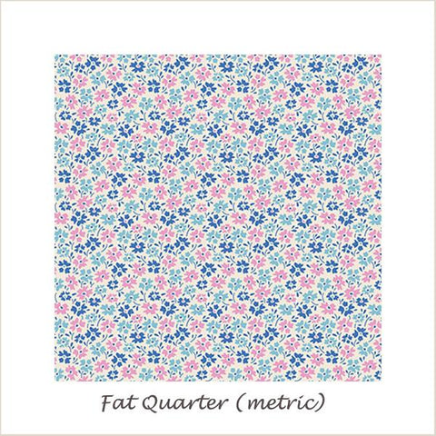 Tilda Lemon Tree Flowerfield Blue Fat Quarter