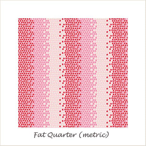 Tilda Lemon Tree Mosaics Red Fat Quarter