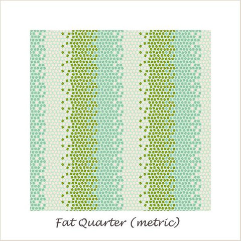 Tilda Lemon Tree Mosaics Green Fat Quarter