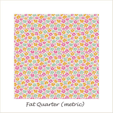 Tilda Lemon Tree Flowerfield Yellow Fat Quarter