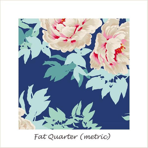 Tilda SunKiss Beach Peony Blue Fat Quarter