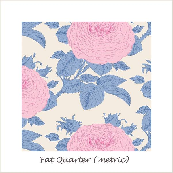 Tilda SunKiss Grandma Rose Blue Fat Quarter