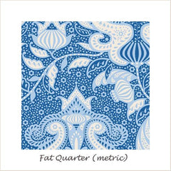 Tilda SunKiss Ocean Flower Blue Fat Quarter