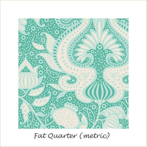 Tilda SunKiss Ocean Flower Teal Fat Quarter
