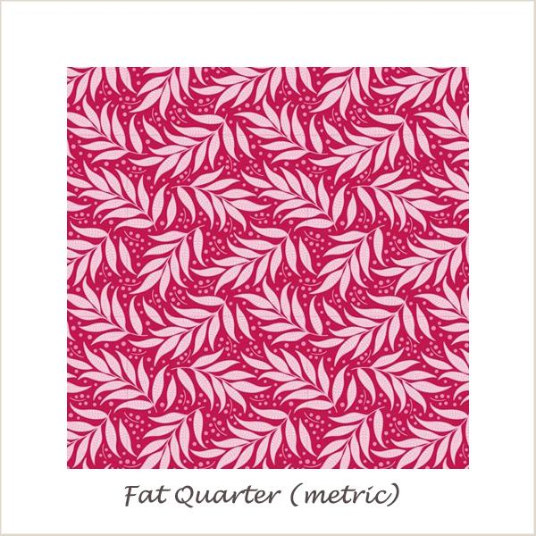 Tilda Cottage Berry Leaf Red Fat Quarter