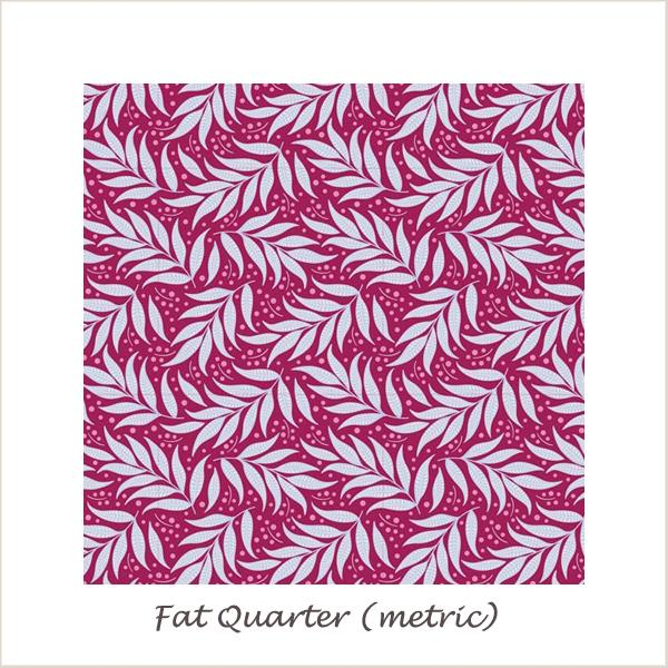Tilda Cottage Berry Leaf Plum Fat Quarter