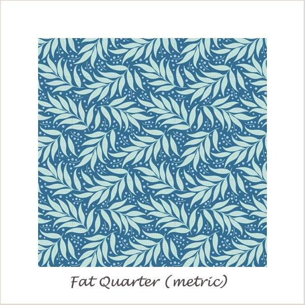 Tilda Cottage Berry Leaf Blue Fat Quarter