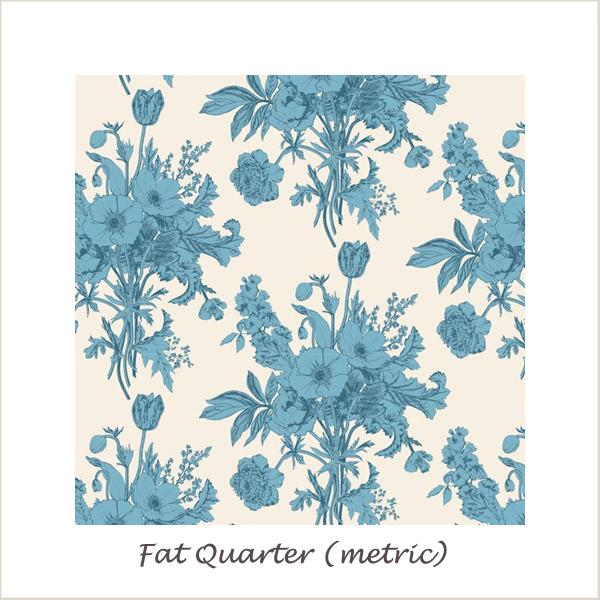 Tilda Cottage Botanical Blue Fat Quarter