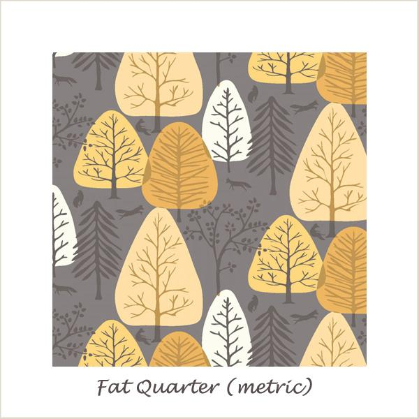 Timberland Coffee Trees Fat Quarter