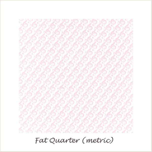 Tiny Dancer  G Cleff Pink Fat Quarter