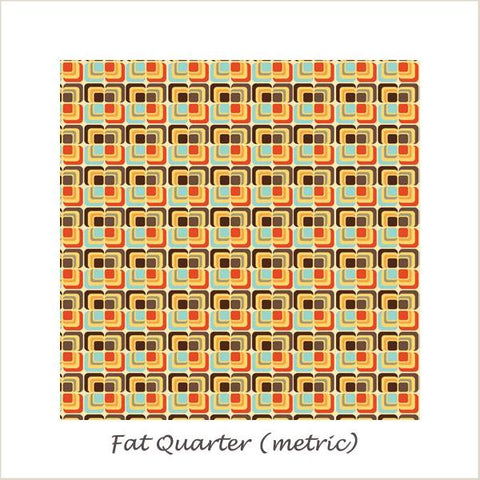 Unicorns & Rainbows  Unicorn Deco Orange Fat Quarter