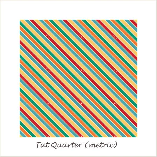 Unicorns & Rainbows  Unicorn Stripe Multi Fat Quarter