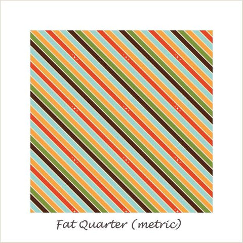 Unicorns & Rainbows  Unicorn Stripe Orange Fat Quarter