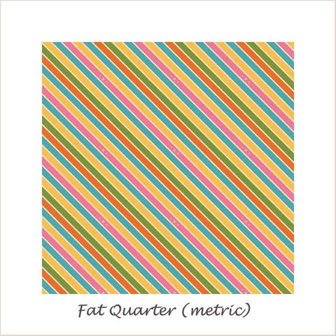 Unicorns & Rainbows  Unicorn Stripe Pink Fat Quarter