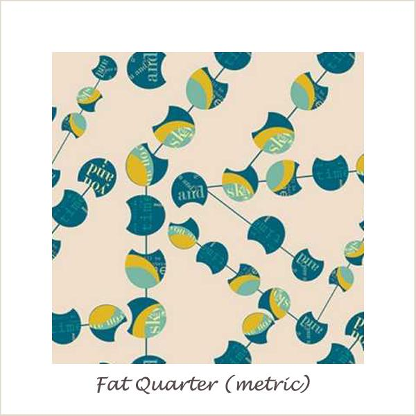 Utopia  Chatter Pods Menta Fat Quarter