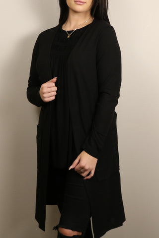 Jax Classic Open Front Duster Black