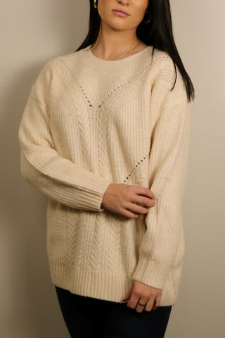 Coco Knitted Pullover Sweater - Ivory