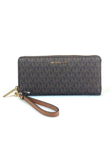 Michael Kors Monogram Large Brown Wallet