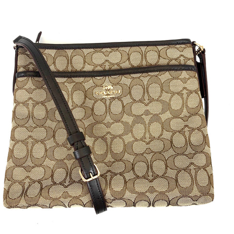 Coach Signature Z File Crossbody