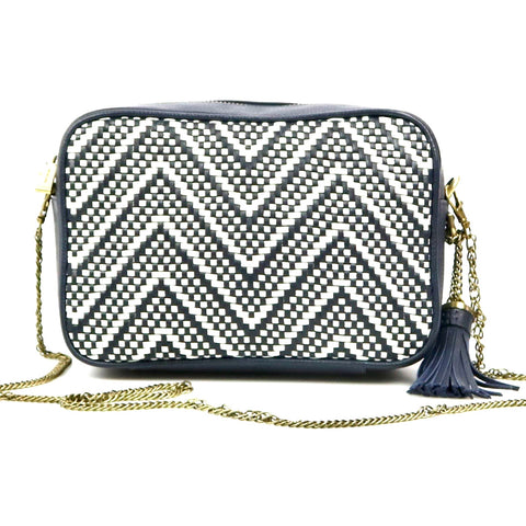 Michael Kors Woven Chevron Camera Bag