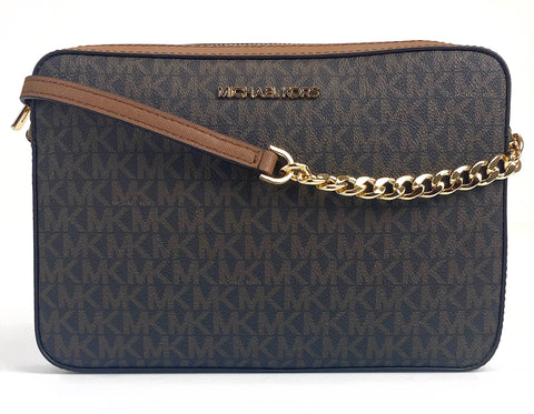 Michael Kors Jet Set Crossbody Monogram - Brown