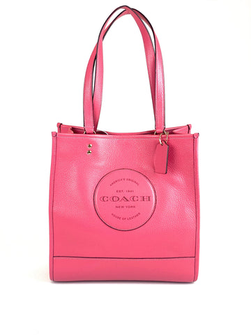Coach Leather Dempsey Tote - Fuchsia