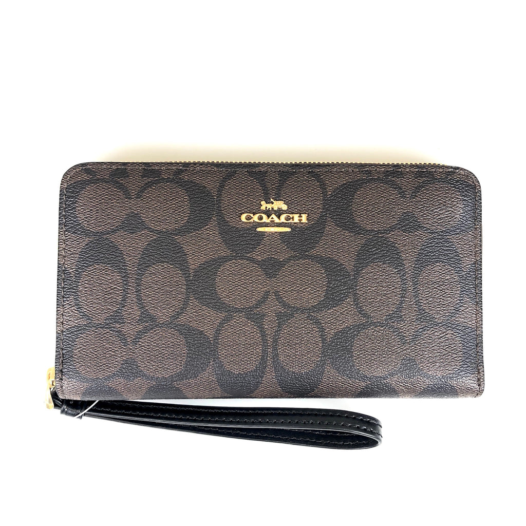Coach Large Phone Wallet Brown
