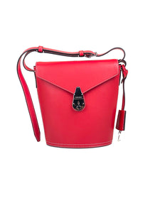 Calvin Klein Lock Bucket Bag Red