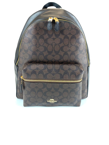 Coach Charlie Monogram Backpack Black