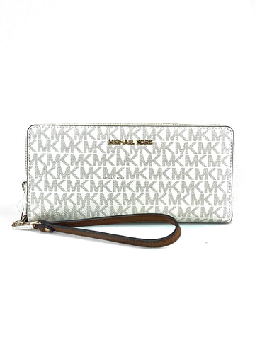 Michael Kors Vanilla Monogram Large Wallet