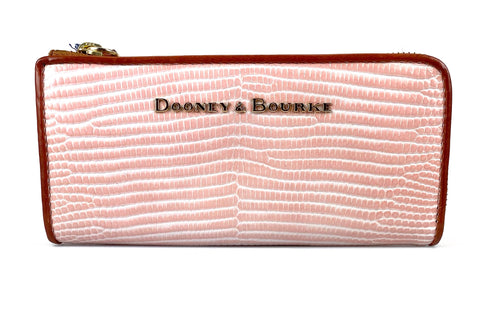 Dooney & Bourke Zip Clutch - Light Pink
