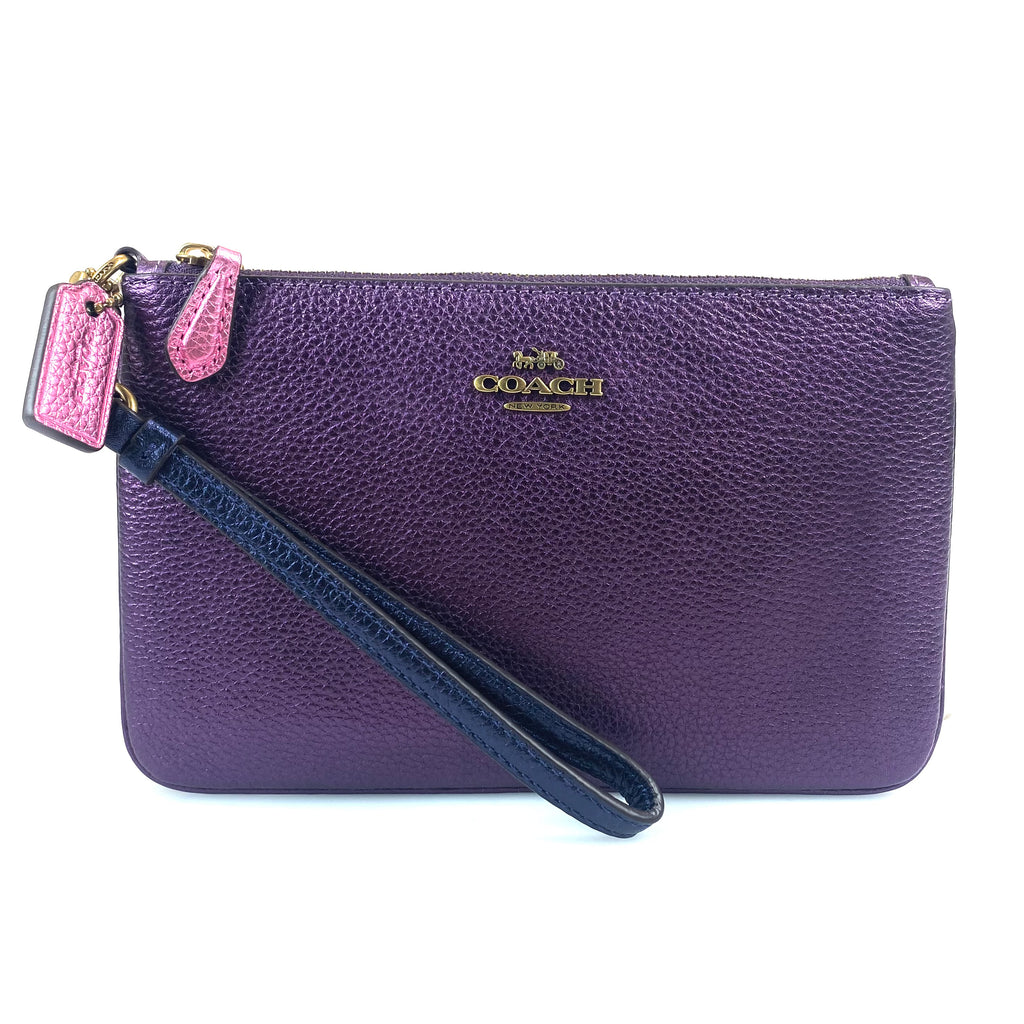 Coach Colorblock Wristlet - Purple