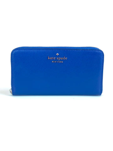 Kate Spade Staci Large Continental Leather Wallet - River Blue