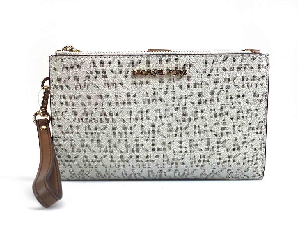 Michael Kors Jet Set Double Zip Wallet - Vanilla