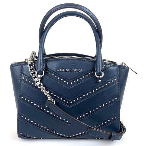 Michael Kors Ellis Navy Satchel