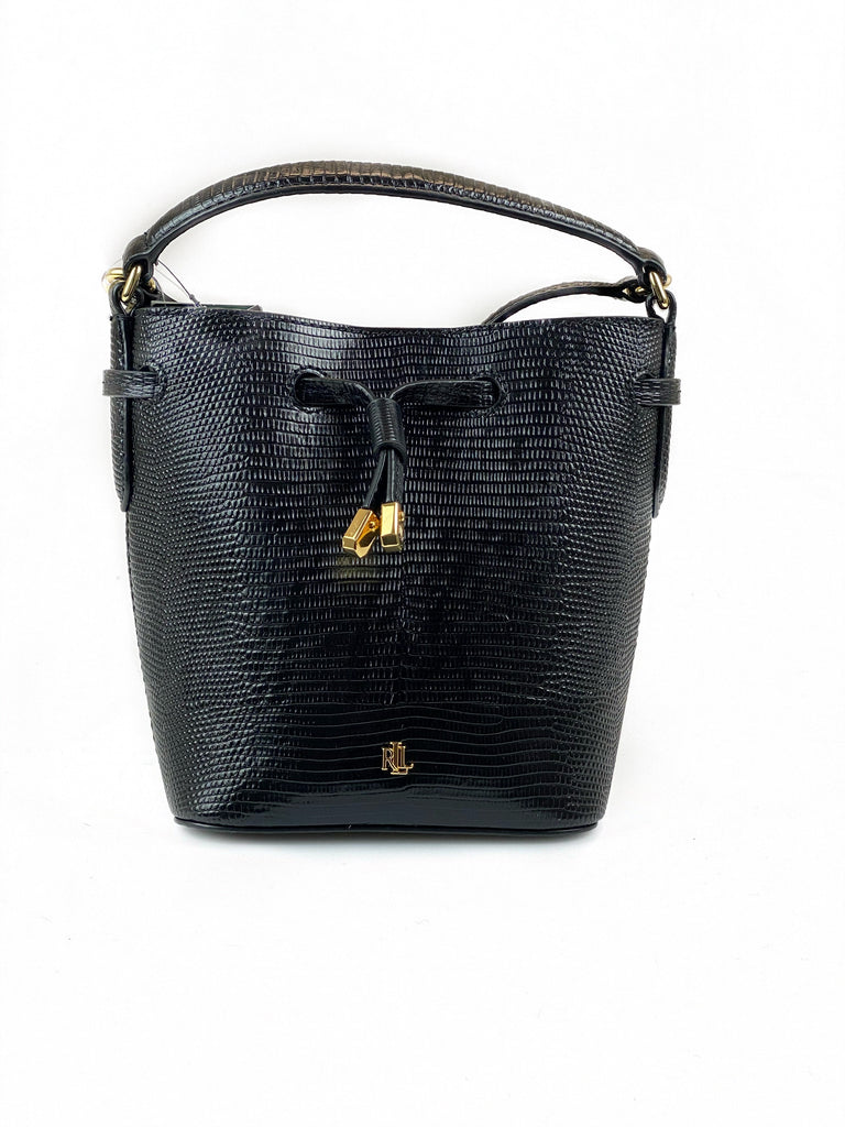 Ralph Lauren Lizard Embossed Crossbody Black