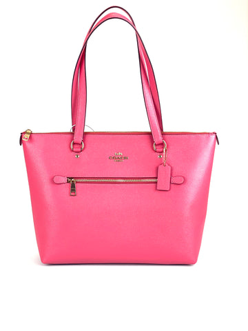 Coach Leather Gallery Tote - Fuchsia