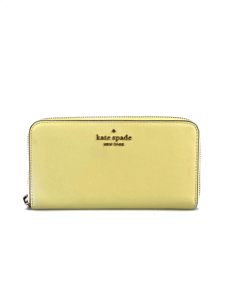 Kate Spade Staci Large Continental Leather Wallet - Butter